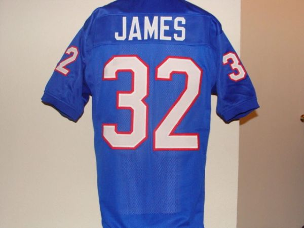 #32 CRAIG JAMES SMU Mustangs NCAA RB Blue Throwback Jersey
