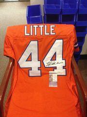 #44 FLOYD LITTLE Denver Broncos AFL/NFL RB Orange Throwback Jersey AUTOGRAPHED