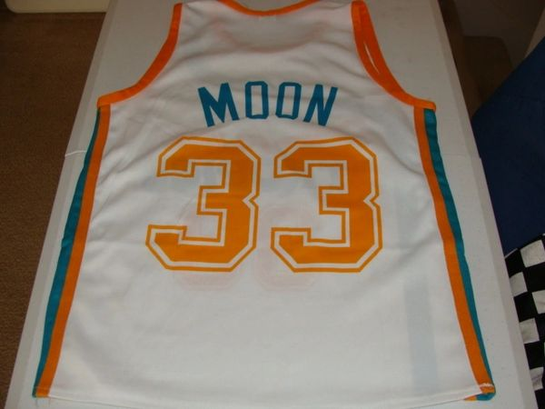 "#33 JACKIE MOON (Will Ferrell) Flint Tropics ABA ""Semi-Pro"" Movie Throwback Jersey"