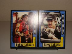 1991 Maxx Terry & Bobby Labonte driver cards Set Both AUTOGRAPHED