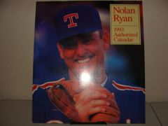 1993 Nolan Ryan Authorized 12-Month Calendar