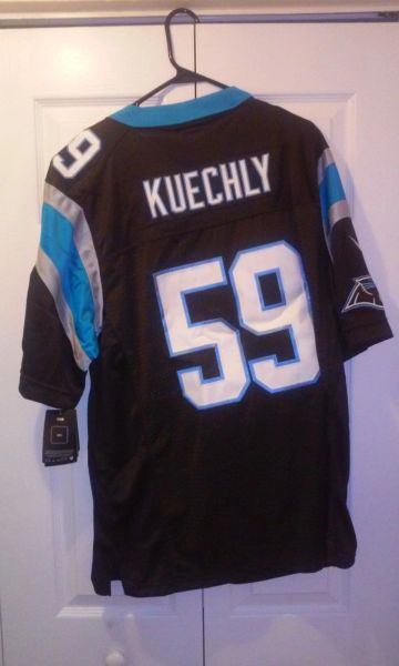 official photos 34d89 46fde #59 LUKE KUECHLY Carolina Panthers NFL LB Black Mint Throwback Jersey