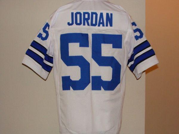 half off ea1b4 59b82 #55 LEE ROY JORDAN Dallas Cowboys NFL LB White Throwback Jersey
