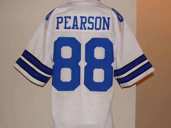 designer fashion c3d67 58386 #88 DREW PEARSON Dallas Cowboys NFL WR White Throwback Jersey