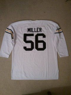 #56 HAL MILLER Georgia Tech Yellow Jackets NCAA Tackle White L/S Throwback Jersey