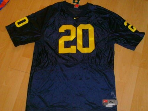 #20 MIKE HART Michigan Wolverines NCAA RB Blue Mint Throwback Jersey