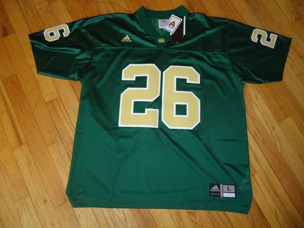 #26 NOTRE DAME Irish NCAA Football Green Mint Throwback Jersey