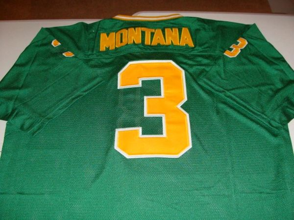 the best attitude 3bccd 4766f #3 JOE MONTANA Notre Dame Irish NCAA QB Green Mint Throwback Jersey