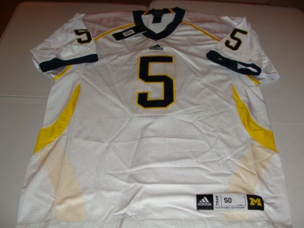 #5 MICHIGAN Wolverines NCAA Football White Mint Throwback Jersey
