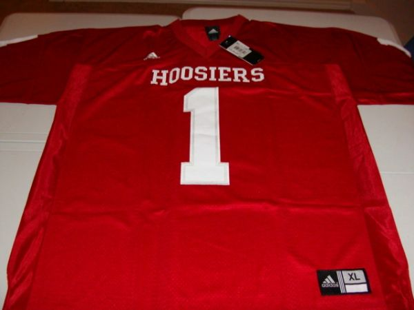#1 INDIANA Hoosiers NCAA Football Red Mint Throwback Jersey