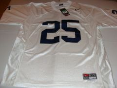 #25 PENN STATE Nittany Lions NCAA Football White Mint Throwback Jersey