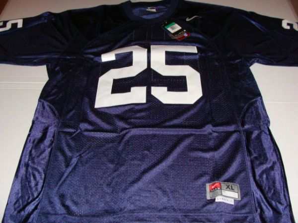 #25 PENN STATE Nittany Lions NCAA Football Blue Mint Throwback Jersey