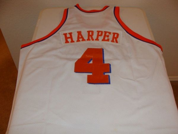 premium selection 6dedc 93c24 #4 RON HARPER Cleveland Cavaliers NBA Guard White Throwback Jersey
