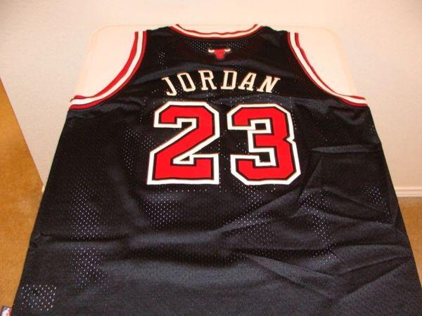 the latest b9a5f 01db6 #23 MICHAEL JORDAN Chicago Bulls NBA Guard Black Nike Throwback Jersey