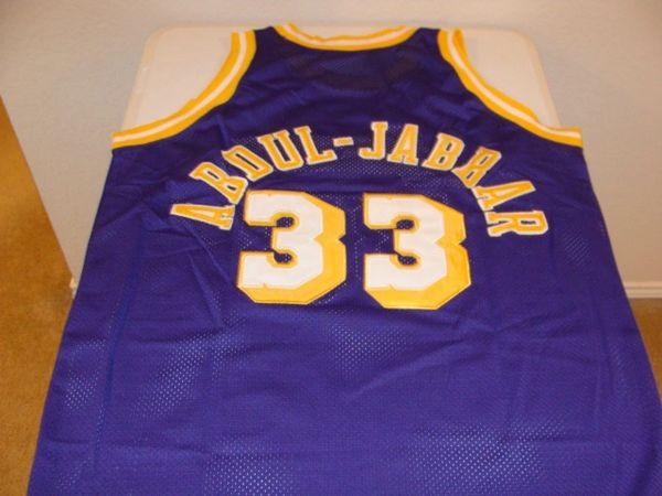 lowest price 391d5 a3c88 #33 KAREEM ABDUL-JABBAR Los Angeles Lakers NBA Center Purple Throwback  Jersey