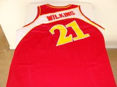 #21 DOMINIQUE WILKINS Atlanta Hawks NBA Forward Red/White Throwback Jersey