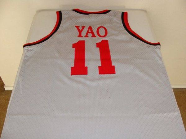 new arrival 042b0 b816c #11 YAO MING Houston Rockets NBA Center Grey Throwback Jersey