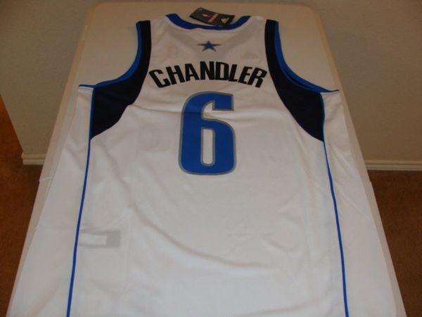 #6 TYSON CHANDLER Dallas Mavericks NBA Center White Throwback Jersey