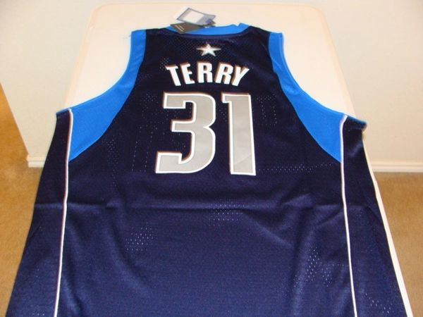 #31 JASON TERRY Dallas Mavericks NBA Guard Dark Blue Throwback Jersey
