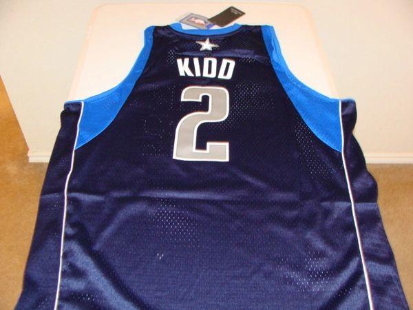 #2 JASON KIDD Dallas Mavericks NBA Guard Dark Blue Throwback Jersey