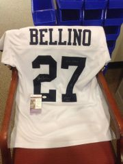#27 JOE BELLINO Navy Midshipmen NCAA RB White Throwback Jersey AUTOGRAPHED