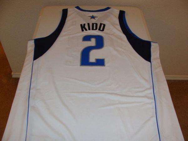 #2 JASON KIDD Dallas Mavericks NBA Guard White Throwback Jersey