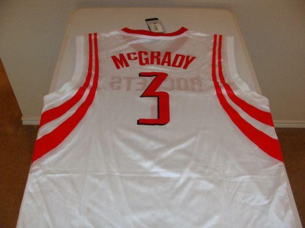 #3 TRACY McGRADY Houston Rockets NBA SG/SF White Throwback Jersey