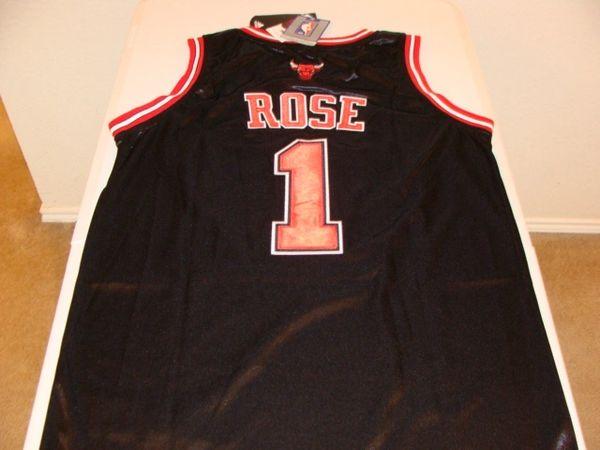 #1 DERRICK ROSE Chicago Bulls NBA Guard Black Throwback Jersey