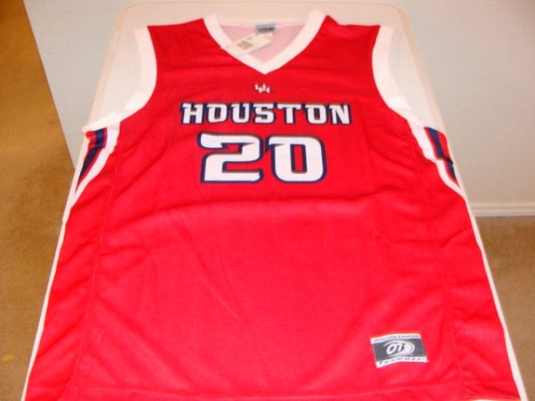 #20 HOUSTON Cougars NCAA Basketball Red Team Jersey