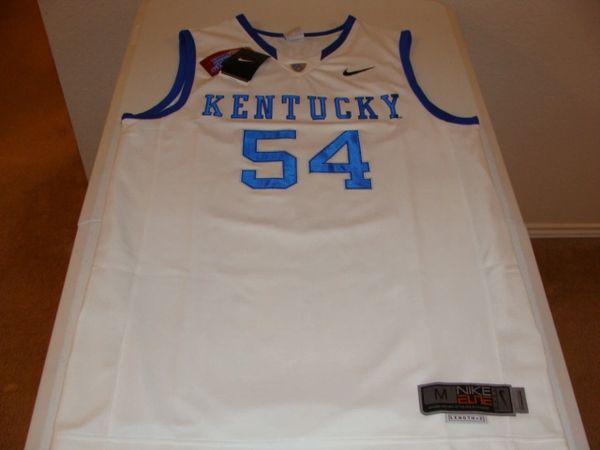 #54 KENTUCKY Wildcats NCAA Basketball White Throwback Jersey