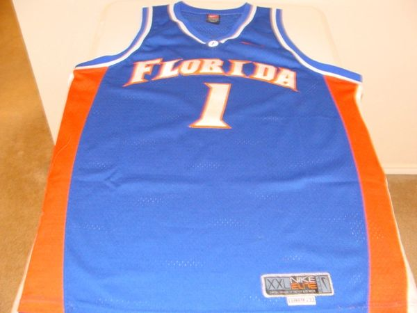 #1 FLORIDA Gators NCAA Basketball Blue Throwback Team Jersey
