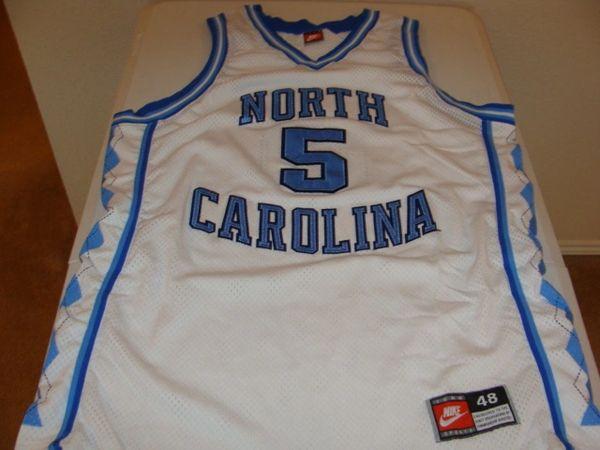 #5 NORTH CAROLINA Tarheels NCAA Basketball White Throwback Team Jersey
