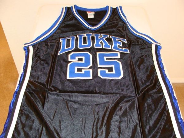 #25 DUKE Blue Devils NCAA Basketball Black Throwback Team Jersey