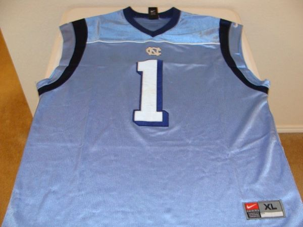 #1 NORTH CAROLINA Tarheels NCAA Basketball Blue Throwback Team Jersey