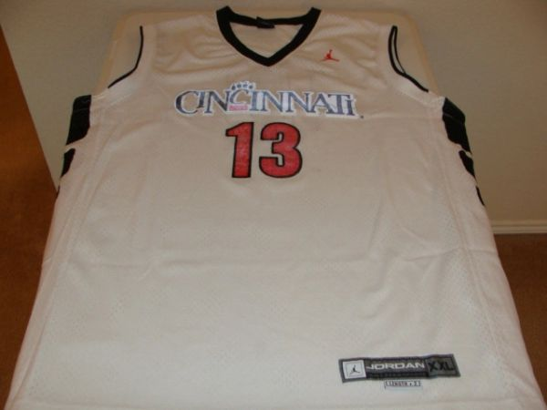 #13 CINCINNATI Bearcats NCAA Basketball White Throwback Team Jersey