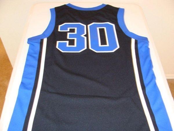 #30 DUKE Blue Devils NCAA Basketball Black Throwback Team Jersey
