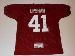#41 COURTNEY UPSHAW Alabama Crimson Tide NCAA LB Red Throwback Jersey AUTOGRAPHED