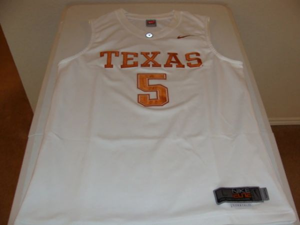 #5 TEXAS Longhorns NCAA Basketball White Throwback Team Jersey