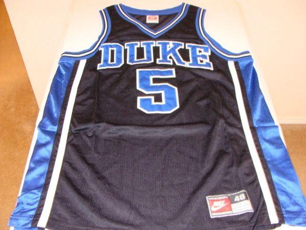 #5 DUKE Blue Devils NCAA Basketball Black Throwback Team Jersey