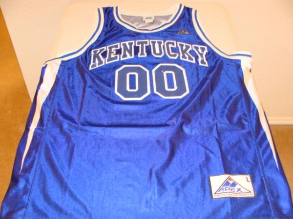 #00 KENTUCKY Wildcats NCAA Basketball Blue Throwback Team Jersey