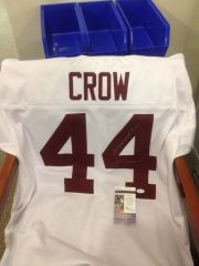 #44 JOHN DAVID CROW Texas A&M Aggies NCAA RB White Throwback Jersey AUTOGRAPHED