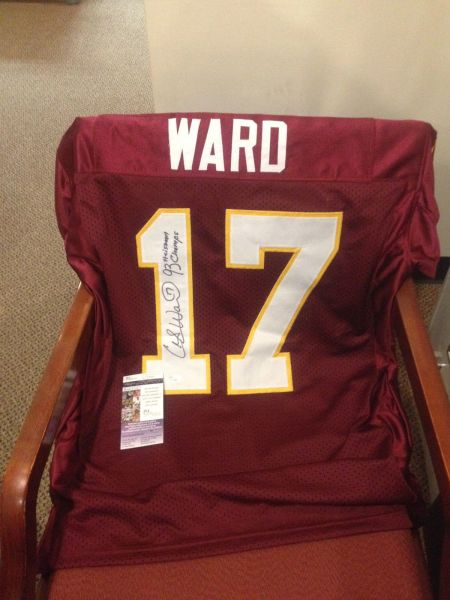 #17 CHARLIE WARD Florida State Seminoles NCAA QB Red Throwback Jersey AUTOGRAPHED