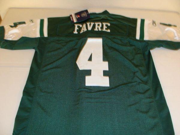 newest 0fc98 7e881 #4 BRETT FAVRE New York Jets NFL QB Green Mint Throwback Jersey