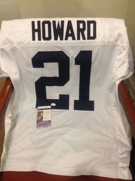 #21 DESMOND HOWARD Michigan Wolverines NCAA WR/RS White Throwback Jersey AUTOGRAPHED