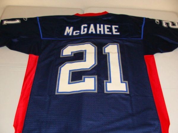 #21 WILLIS McGAHEE Buffalo Bills NFL RB Blue Throwback Jersey