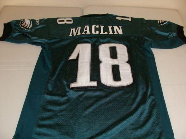 #18 JEREMY MACLIN Philadelphia Eagles NFL WR Green Throwback Jersey