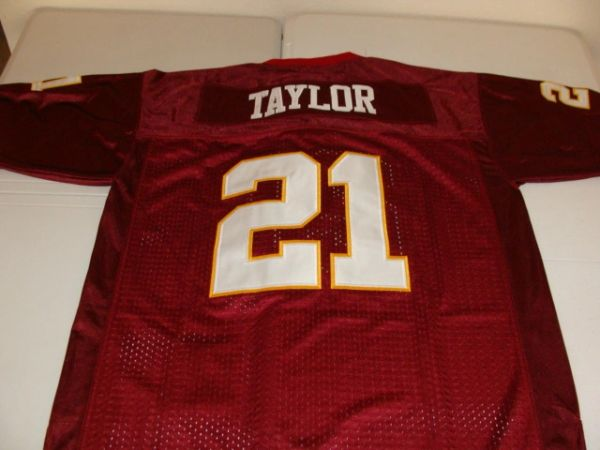 online retailer a48ca 85673 #21 SEAN TAYLOR Washington Redskins NFL Safety Red Throwback Jersey