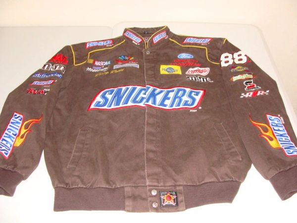 #88 Ricky Rudd SNICKERS Robert Yates Racing Ford Brown NASCAR Team Jacket
