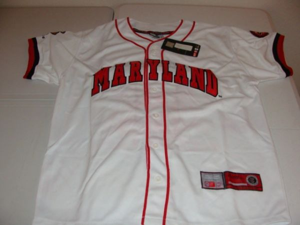 #8 MARYLAND Terrapins NCAA Baseball White Mint Throwback Team Jersey