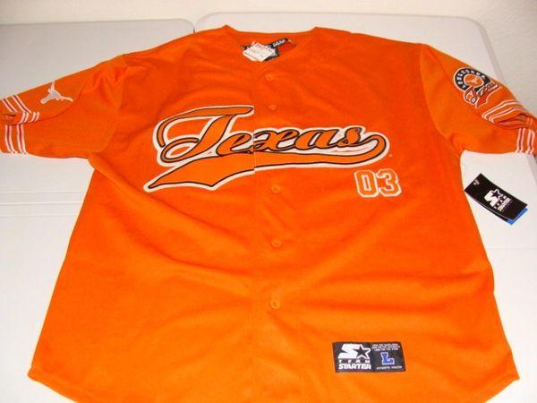 timeless design ce452 fd1fa #03 TEXAS Longhorns NCAA Baseball Orange Mint Throwback Team Jersey